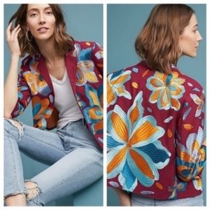 Ett:Twa By Anthropologie Woodstock Embroidered NEW